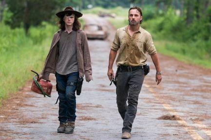 Carl and Rick Grimes